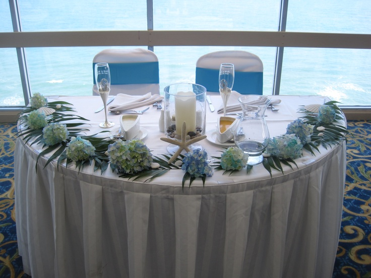 Beach Wedding Reception Sweetheart Table Dunes Oceanfront Ballroom Hilton Myrtle