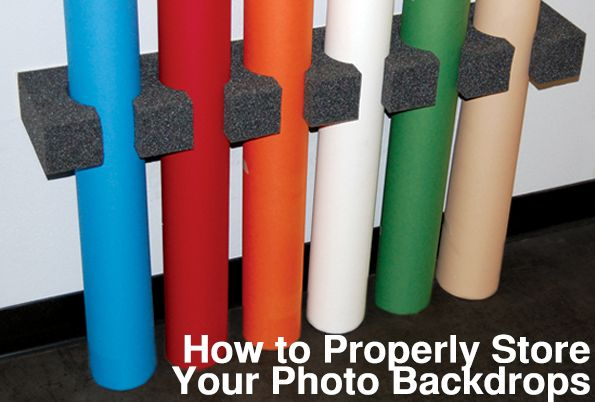 Backdrop Express Photography Blog Ways to Store your Photography Backdrops | Photographic Backdrop Blog