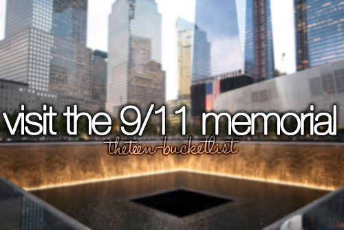 It's emotional but amazing... it's VERY sad to see all the names that died on 9/11. They have to have 2 memorials to for all of the names... :(