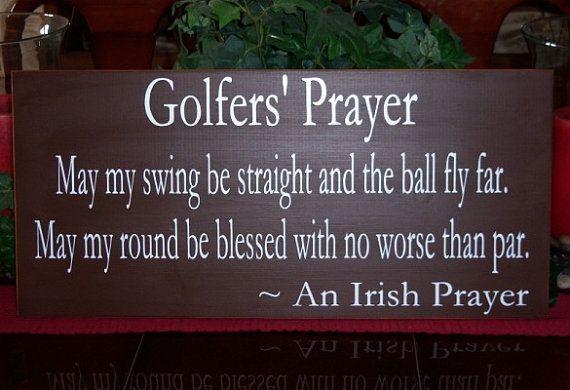 A Golfer's Prayer Wood Sign Golfer's Sports by SnickerdoodleSigns, $50.00