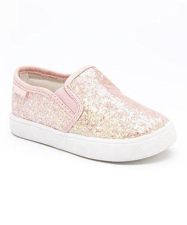 Pink Glitter Slip-On Shoe