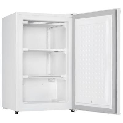 manual defrost upright freezer in white