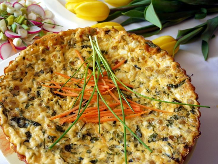 Omelet with Chickpeas and Herbs    #recipe #recepty #chickpea #omelet #omeleta #lightdish #cícer