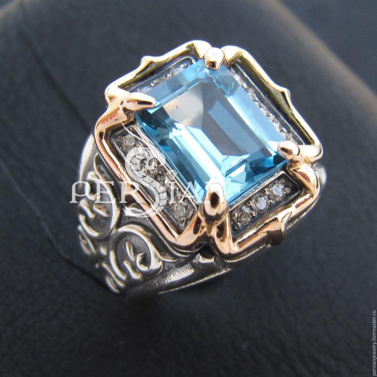 Купить ЖЕНСКАЯ ПЕЧАТКА «LIRRDAR» С ТОПАЗОМ SWISS - серебряный, серебряный перстень, кольцо с топазом