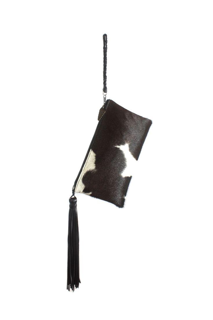 Areias Leather Leather Tassel Wristlet - Main Image