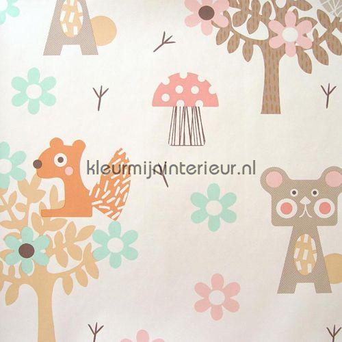 Animaux de la forêt pastel behang 354030, Tout Petit van Eijffinger