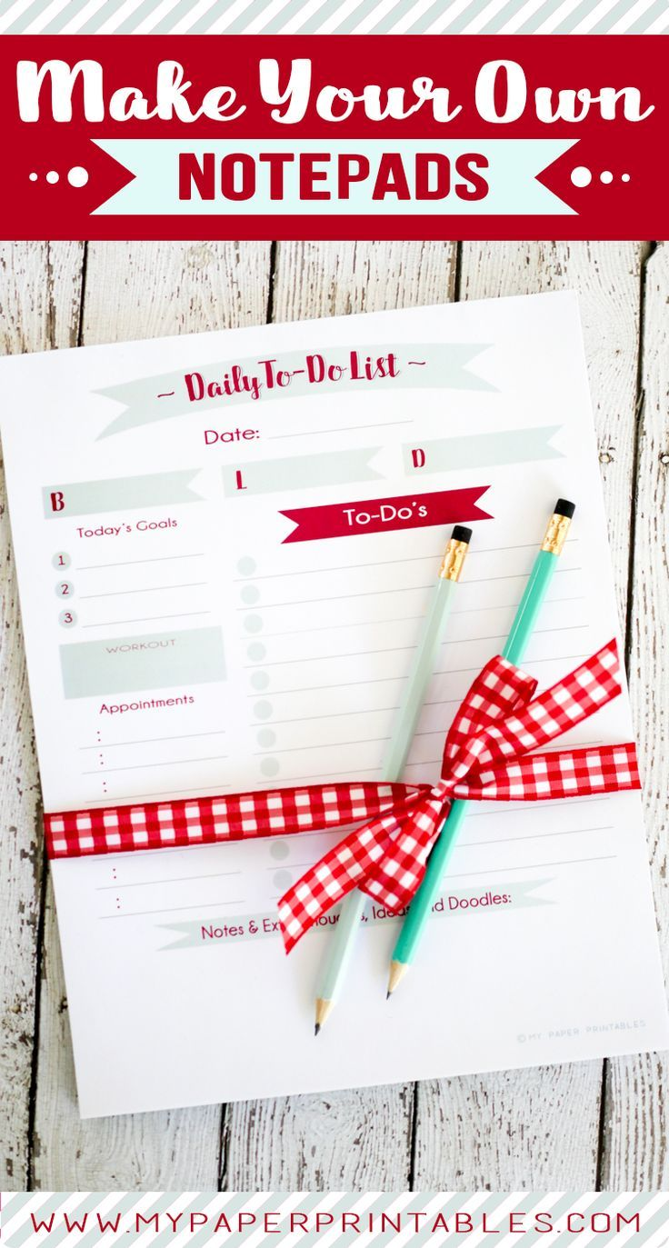 make your own notepads