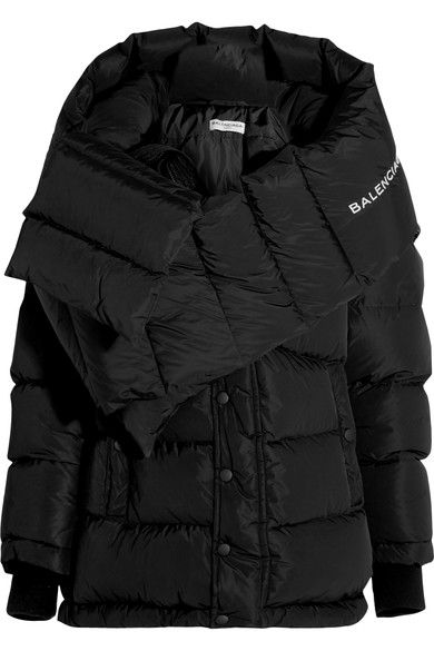 Black shell Snap and concealed zip fastenings through front 100% polyester; padding: 80% feathers, 20% down (Duck); lining: 100% polyester Dry clean Made in France