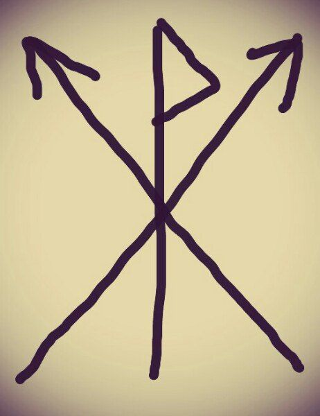 """""""Печать победы"""" id141341200 Активный став. Вуньо, 2 тейваз. Эти 3 руны образуют второстепенный хагал (снежинкой), для уничтожения преград."""