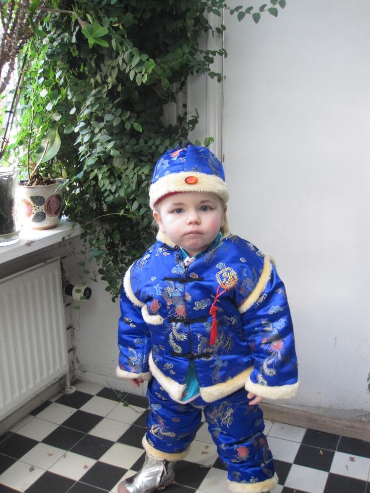 Tone som lille kineser i Valby, Fastelavn 2011