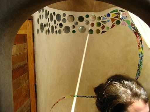 Bottle Art Tile Mosaic Shower