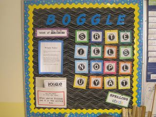 Boggle Bulletin Board for early finishers