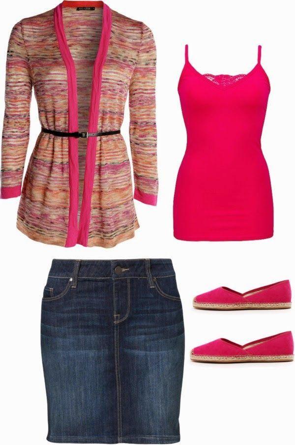 Coisas de mulher Cristã: Saia jeans a parceira do dia a dia