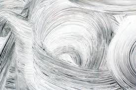 Gedraaide circels in de verf met twee kleuren whitewash.