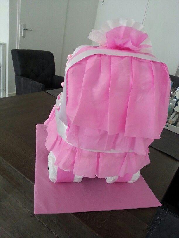 Luier kinderwagen roze luxe