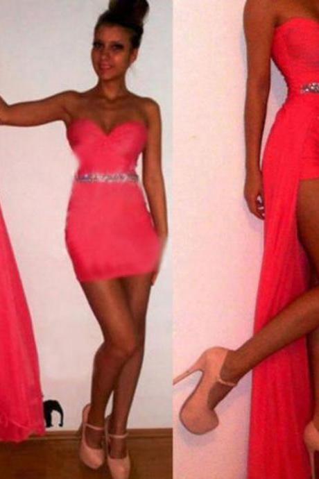 Irregular Low High Bodycon Prom Dress