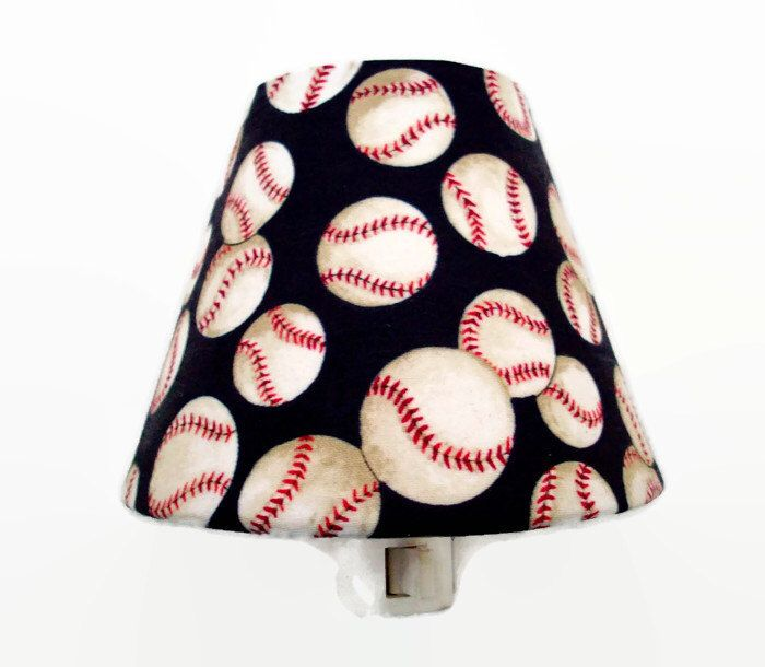 Baseball Night Light - Boys Nursery Decor - Sports Night Light - Baseballs Wall Decor - Boys Night Light - Baseball Light Bathroom by cathyscraftycovers on Etsy https://www.etsy.com/listing/463157406/baseball-night-light-boys-nursery-decor