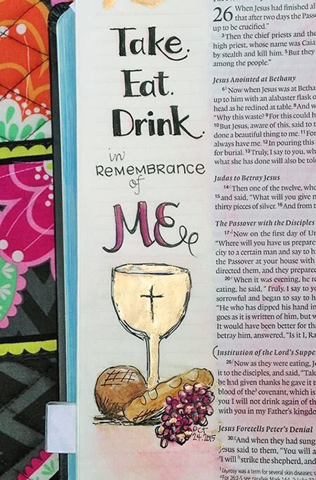 Illustrated faith, Bible art journaling by odessa