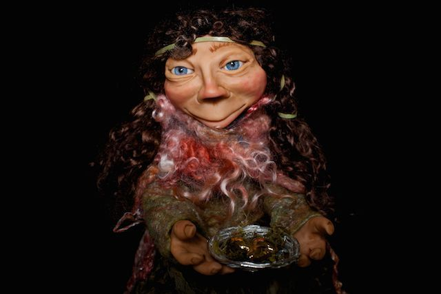OOAK - handmade Gozob - Allira  (goblin/faerie/fairy/pixie/gozob) by efinadesigns on Etsy