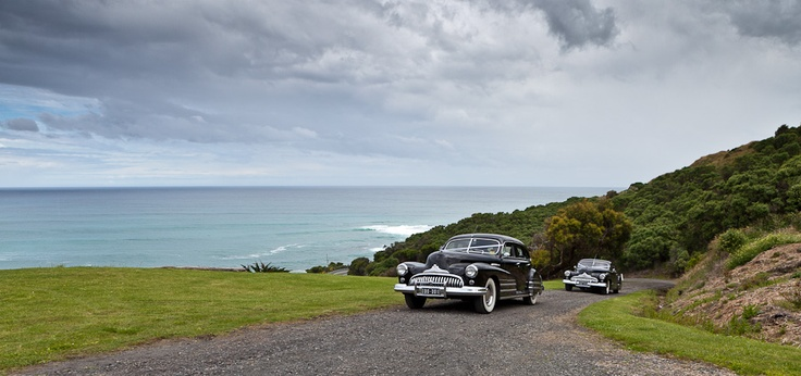Wedding cars used at James & Kittys Apollo Bay Wedding, Great Ocean Road