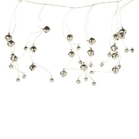 jingle bell garland: Garlands Shopterrain, Christmas Crafts, Garlands 18, Jingle Belle, Belle Garlands, Christmas Decor, Christmas Garlands, Christmas Ideas, Silver Belle