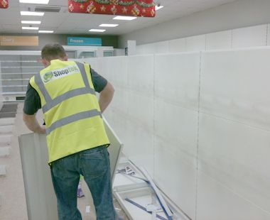 Shelving4Shops can dismantle and remove used supermarket shelving for you, easily and quickly.