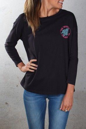 Santa Cruz - Cali Dot Girls Longsleeve Tee $54.95 Shop Via ll http://www.jeanjail.com.au/ladies/santa-cruz-cali-dot-girls-longsleeve-tee-black.html