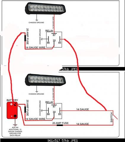 wiring instructions for led lighting with light bar diagram