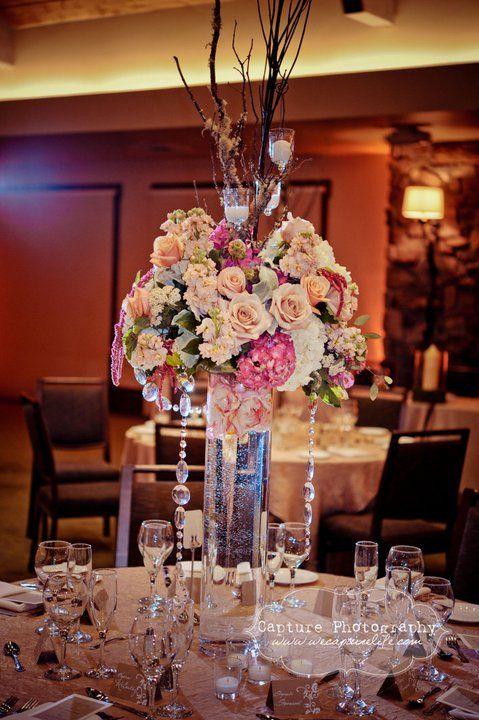 Wedding Decorations Sacramento Love The Crystals Wedding Ceremony Reception Flowers Decor