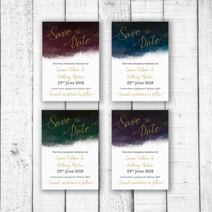 Customised to with your name and event information. Not just for weddings, this invitation can be customised for any event, birthday, engagement, bridal shower, graduation, staff party, new years eve, end of year party or any event.size  A6 105 x 148mm (Recommended size for Save the Date Card) OR   A5 148 x 210mm  colours & fonts   Most colours and all fonts can be changed upon request to achieve a truly personal menu for your special day.  printing   Please note there is a minimum of 24