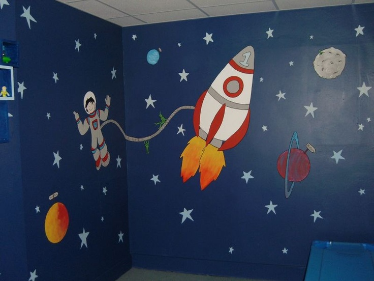 1000 images about lukey 39 s space room on pinterest for Astronaut wall mural