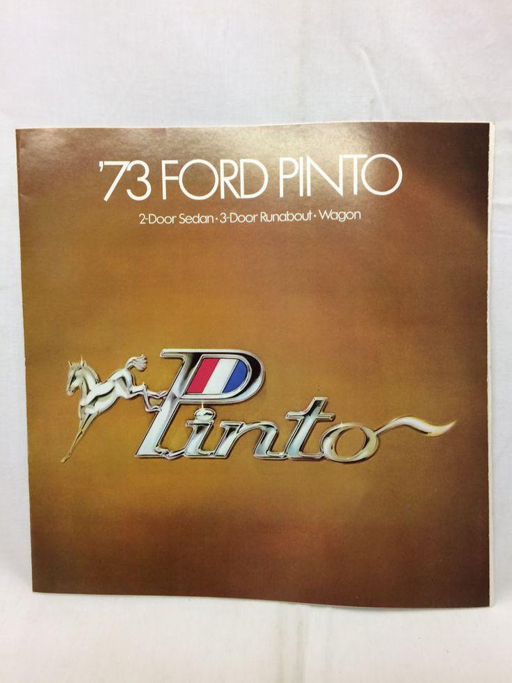 "Vintage 1973 Pinto Car Auto Brochure 11"" X 11"" Ford Wagon  | eBay"