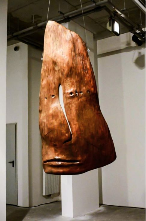ARTFINDER: Szad by Paweł Jackowski - Wooden mask. Full 3d sculpture. Should be hanged not to close of the wall