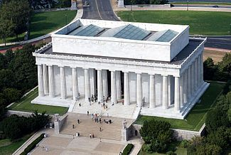 The Lincoln Memorial is an American memorial built to honor the 16th President of the United States, Abraham Lincoln. It is located on the National Mall in Washington, D.C. across from the Washington Monument.