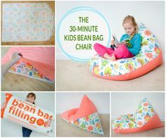 30 Minute Kids Bean Bag Chair Sewing Tutorial - quick and easy diy