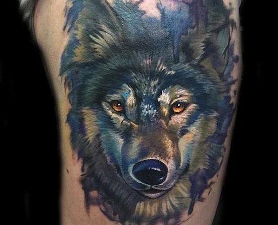 волк, татуировка
