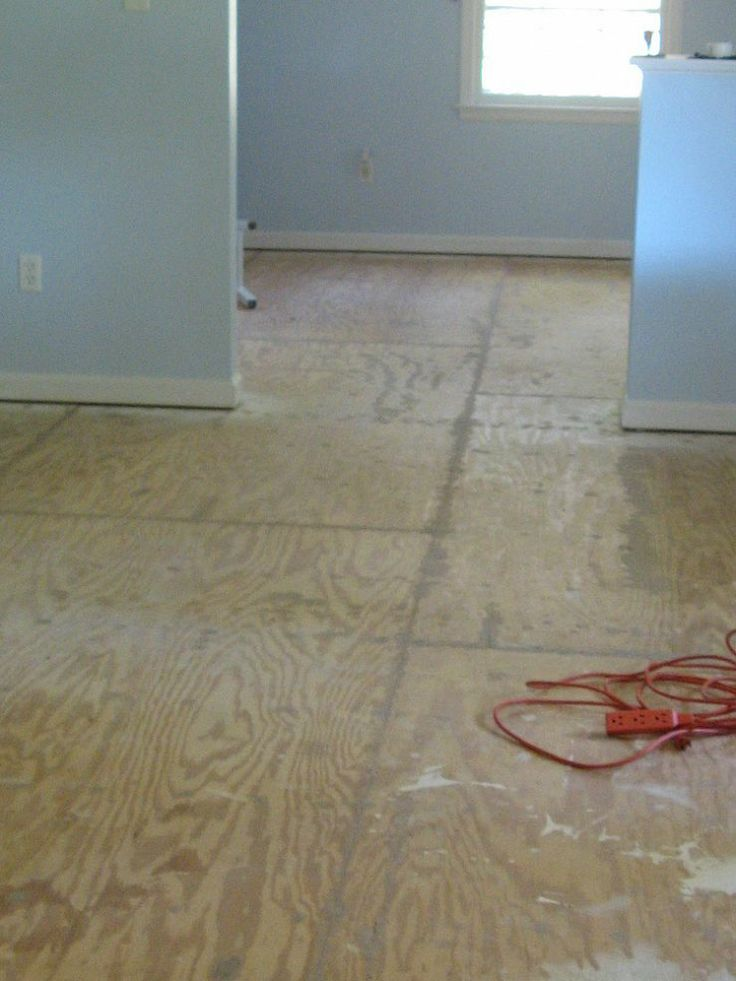 17 Best Ideas About Plywood Subfloor On Pinterest