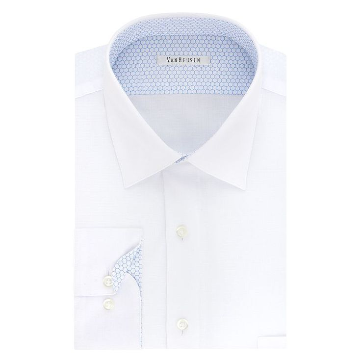 Men's Van Heusen Air Regular-Fit Stretch Dress Shirt, Size: 15.5-34/35, White