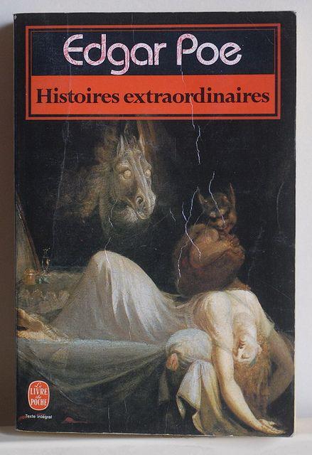 Edgar Poe: Histoires extraordinaires, Le livre de poche, Paris, 1983, couverture: Fussli: le cauchemar.
