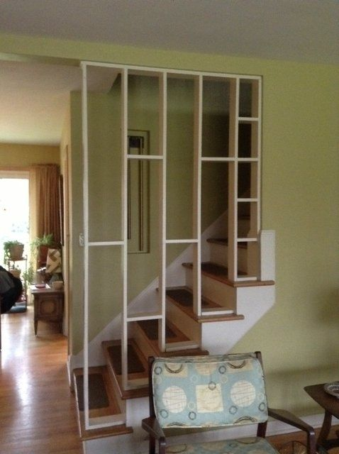 Lighting Basement Washroom Stairs: 1955 Staircase Open Wall Divider.....saw A Quite A Few