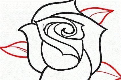 Come disegnare una rosa a matita disegni tecnica for Disegni natalizi facili da disegnare