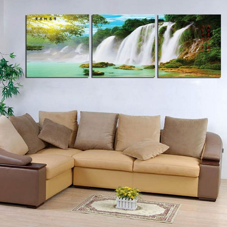 Amazon.com: Hot Sell 3 Panels 40 x 60 cm Modern Wall Painting Botanical Waterfall Picture Home Decorative Art Picture Paint On Canvas Prints: Posters & Prints