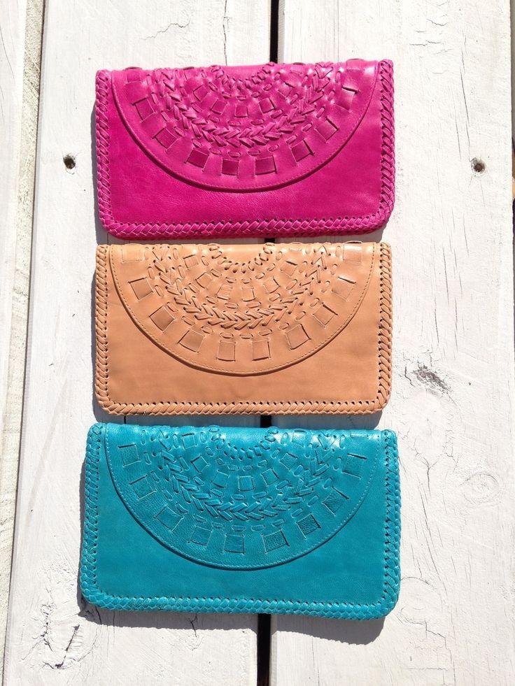 beautiful soft leather mandala clutch