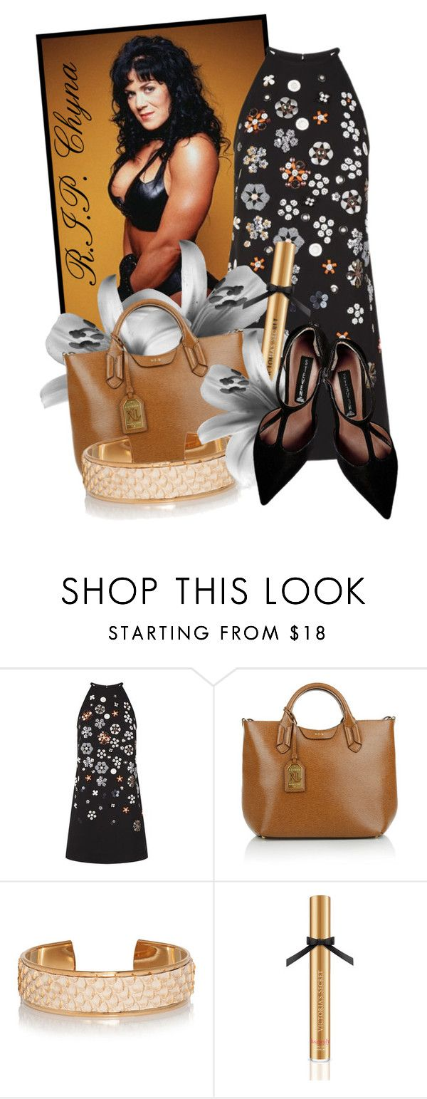 """""""R.I.P.........Chyna.....(WWE Female Wrestler)"""" by queenrachietemplateaddict ❤ liked on Polyvore featuring Victoria, Victoria Beckham, Lauren Ralph Lauren, Victoria's Secret, Steve Madden, wrestling and chyna"""