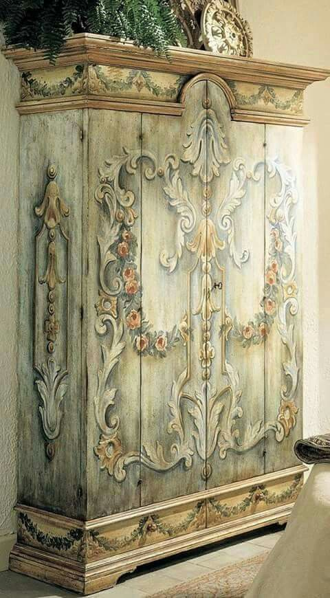 painted cabinet.