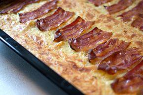 Raggmunk med bacon i ugnen