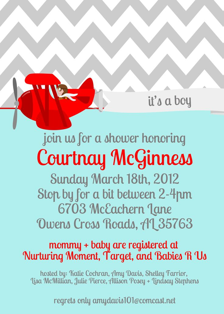 invitations: Susan Baby, Airplane Baby Shower, Baby Graphics, Court S Baby Show, Baby Showerr