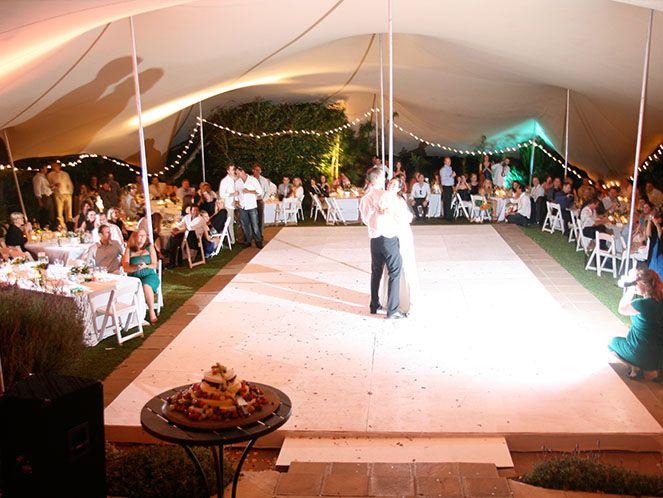 Bride and Groom opening the dance floor