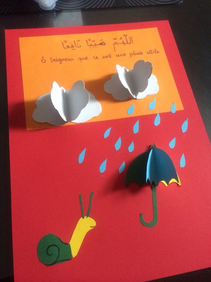 Carte de la doua de la pluie.  Activité a faire avec les enfants, apprentissage facilité de la doua et succès garanti