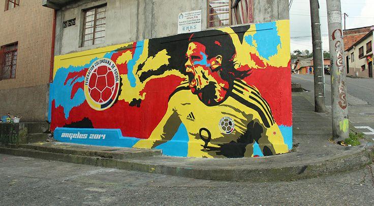 PROYECTO SOCIAL / Mural Selección Colombia 2014 on Behance